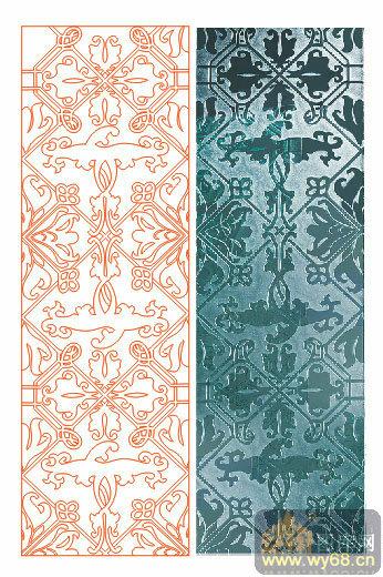 欧式抽象几何-欧式花纹-00069-艺术玻璃图库