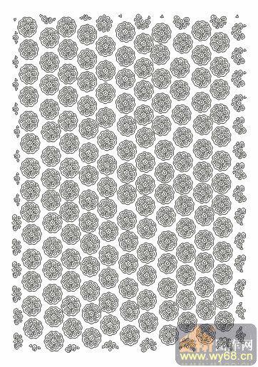 欧式抽象几何-圆形花-00058-玻璃门