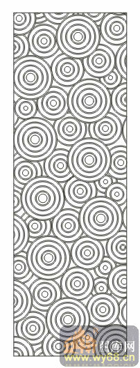 欧式抽象几何-圆圈舞-00086-艺术玻璃