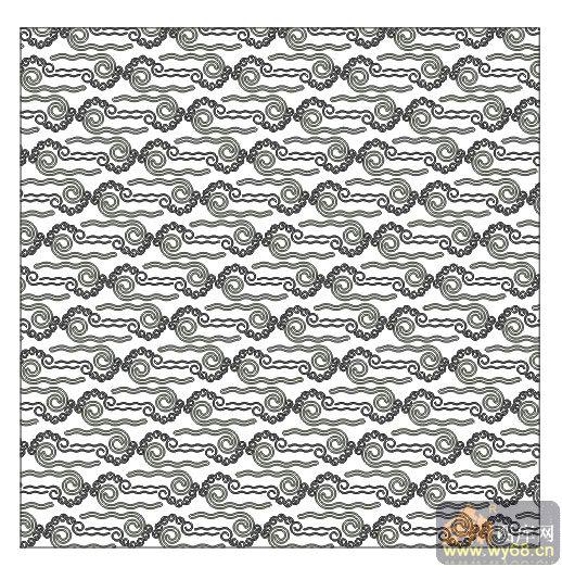 欧式抽象几何-传统花纹-00120-艺术玻璃