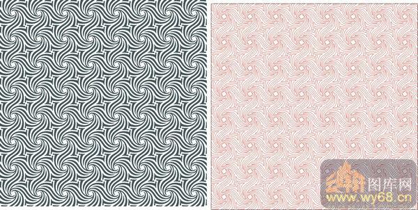 欧式抽象几何-抽象花纹-00336-玻璃雕刻