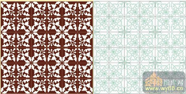 欧式抽象几何-白色花纹-00297-玻璃雕刻