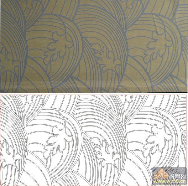 欧式抽象几何-波浪-00225-雕刻玻璃图案
