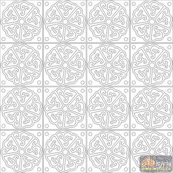 欧式抽象几何-传统花纹-00240-喷砂玻璃