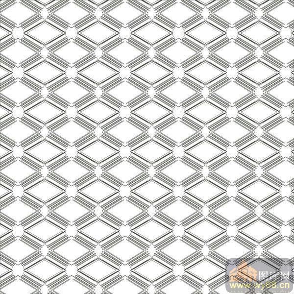 欧式抽象几何-菱形-00365-玻璃门