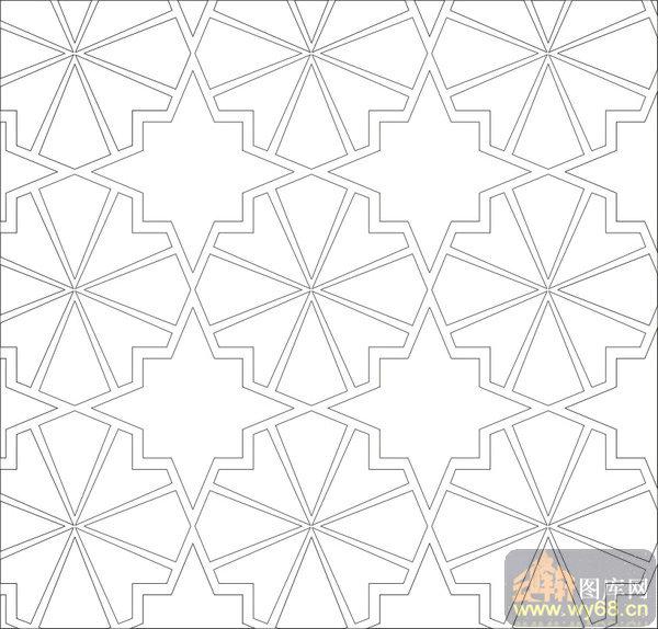 欧式抽象几何-几何花纹-00359-玻璃门