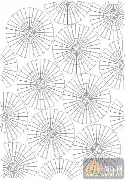欧式抽象几何-圆形-00368-喷砂玻璃
