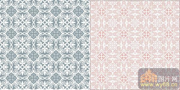欧式抽象几何-欧式花纹-00325-玻璃门