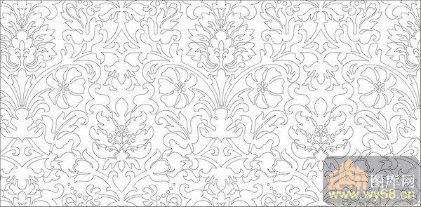 欧式抽象几何-奢华花纹-00372-装饰玻璃
