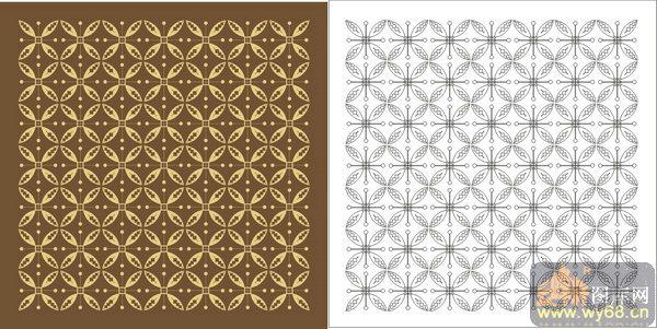 欧式抽象几何-艺术花纹-00252-喷砂玻璃图库