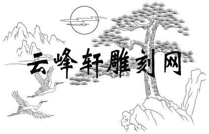 仙鹤河流简笔画