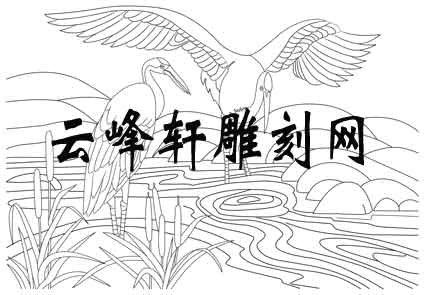 仙鹤手绘高清电脑壁纸