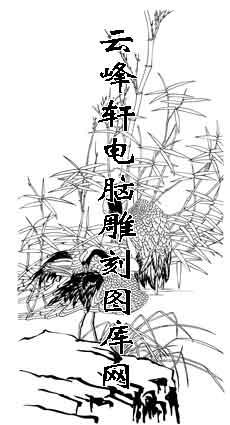 白描仙鹤-白描图-松鹤延年-12-仙鹤白描线描图