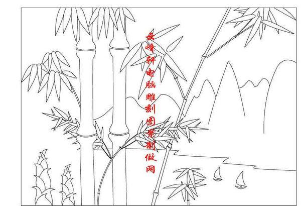 简笔画画竹子的步骤