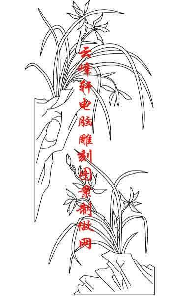 梅兰竹菊-白描图-竹子 梅花-mlxj094-梅兰竹菊线描图