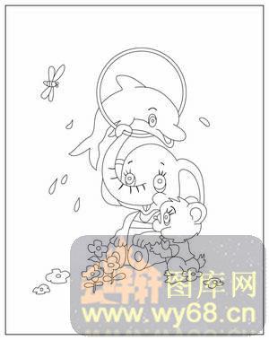 大象线描画步骤