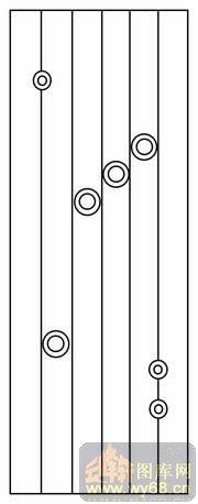 圆圈竖线条