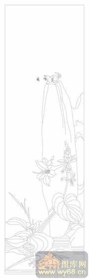 手绘黑白花卉线稿