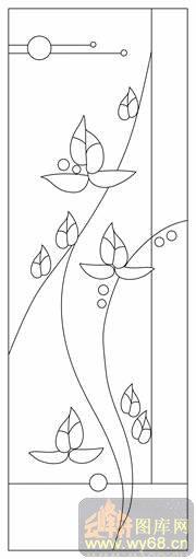莲花纹样线描画