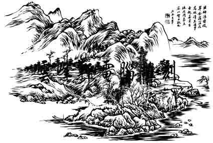 好看的山水画怎么画-山水画怎么画简单好看,画一幅画