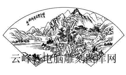 首页 国画白描画线描图系列 山水白描图案,山水线描图,山水画