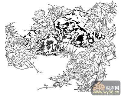 十二生肖1-白描图-子鼠-9-白描生肖图-线描图,白描图