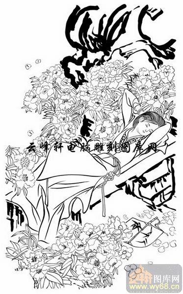 红楼梦金陵十二钗-白描图-贾探春-金陵十二钗图片