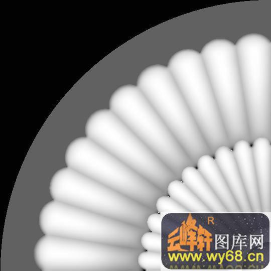 花纹-欧式洋花浮雕灰度图