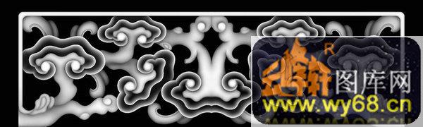 扇子 剑 花纹-灰度浮雕