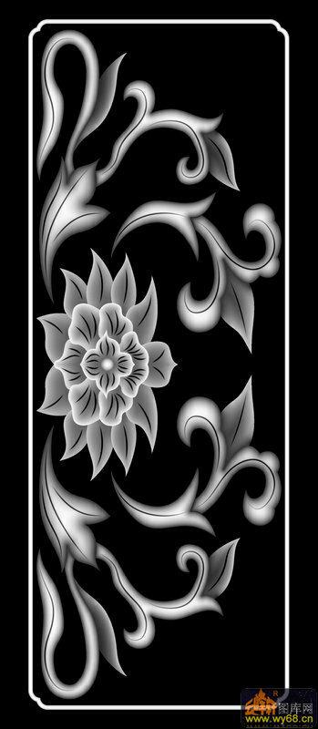 花 花纹-灰度图库素材