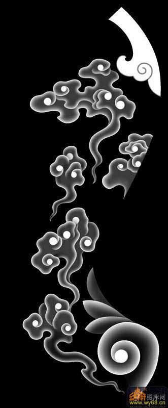 黑色花纹简笔画