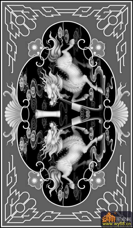 花纹边-雕刻灰度图