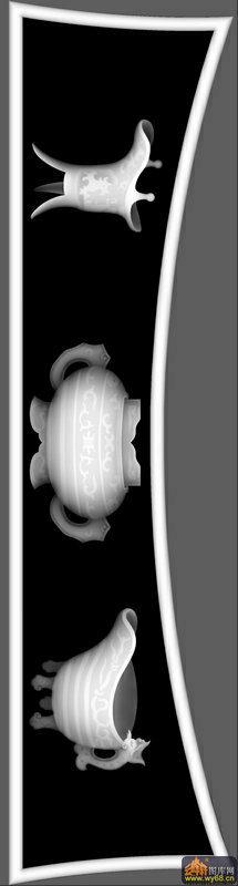 棋盘 琴棋书画 花纹-雕刻灰度图