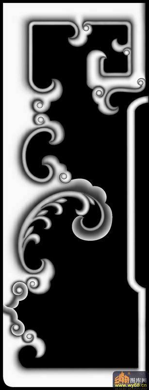 回形云纹复古边框素材