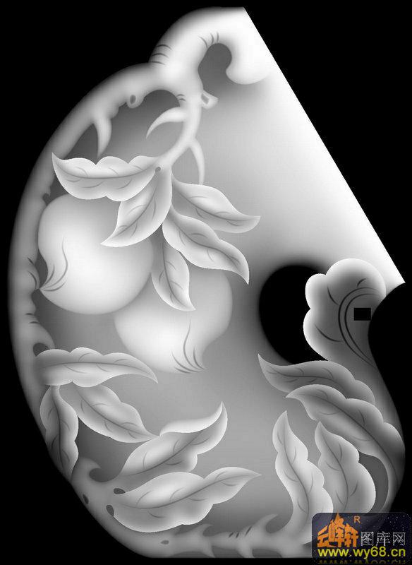 桃 花纹-灰度图库素材
