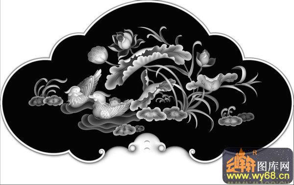 蝙蝠 云-欧式洋花浮雕