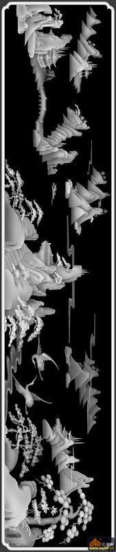 文件简介: 山水 树 仙鹤,雕刻灰度图,每个图案都是bmp格式,可直接导入TYPE3、精雕、ArtCAM等各种浮雕软件可直接编辑刀具路径,普遍用于广告雕刻、木工雕刻、大理石雕刻、砖雕、玉石、工艺品、浮雕、各种五金模具浮雕、仿古家具浮雕、星级酒店主题浮雕、壁画浮雕荼盘浮雕、工艺品浮雕、旋转浮雕雕刻、玉石雕刻、大理石雕刻、模特人物模型、旋转雕、佛像360度旋转雕、礼品盒浮雕、首饰浮雕、人物浮雕、波浪板浮雕。使在美术设计方面不足的用户,利用我们的图库直接雕刻出立体感强烈的逼真浮雕作品来。 关键字: