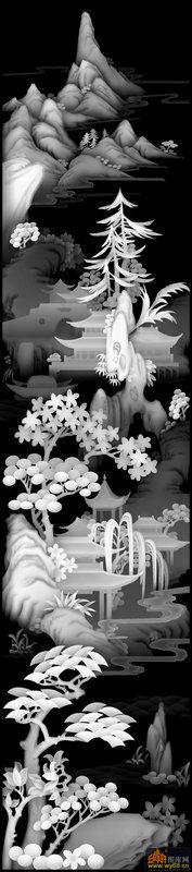 扇子 剑-欧式洋花浮雕