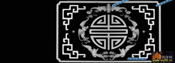 03-福寿纹-029-花纹花边浮雕灰度图