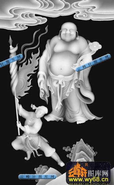 01-圣女-051-古人物浮雕灰度