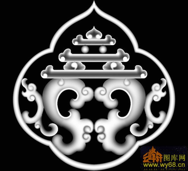 中国风祥云花纹浮雕