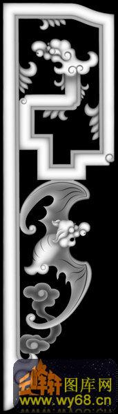 蝙蝠 祥云-灰度图电脑雕刻图
