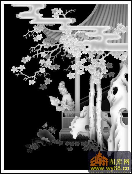 童子 蟾蜍-灰度浮雕