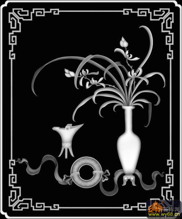 花瓶-精雕灰度图   下一页:兰花