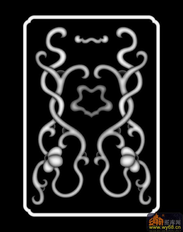 盔甲 花纹-灰度图库素材