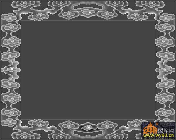 边框灰度-石雕云纹图设计图书馆绿化图片