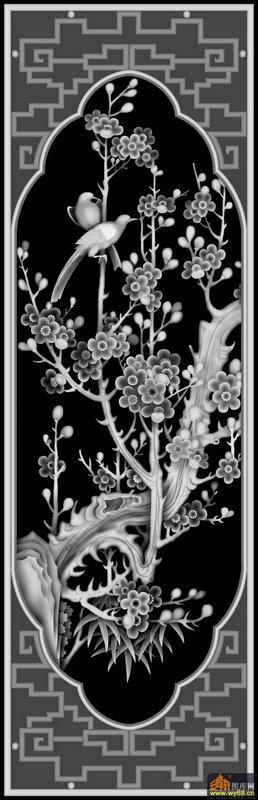 回纹边框-灰度浮雕