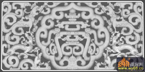 龍紋 花紋 花鉤-浮雕圖案