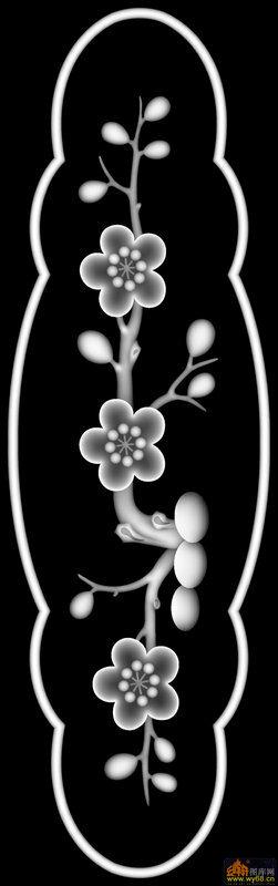 梅花-灰度图库素材-灰度图,bmp图,浮雕图,云峰轩雕刻