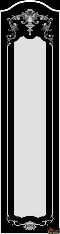 衣柜大门 花纹-灰度雕刻图